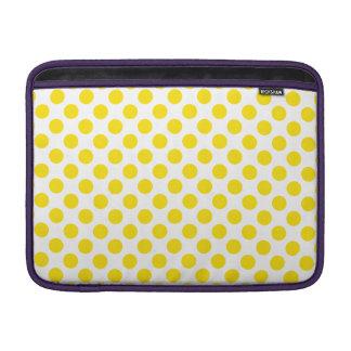Yellow Polka Dots MacBook Sleeve