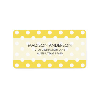 Yellow Polka Dots Pattern