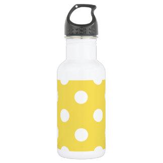 Yellow Polka Dots Pattern 532 Ml Water Bottle