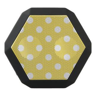Yellow Polka Dots Pattern Black Bluetooth Speaker
