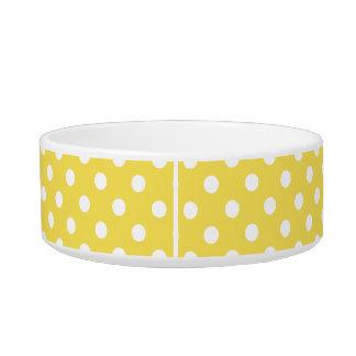 Yellow Polka Dots Pattern Bowl