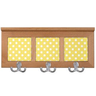 Yellow Polka Dots Pattern Coat Rack