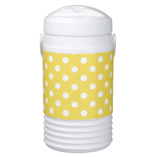 Yellow Polka Dots Pattern Cooler