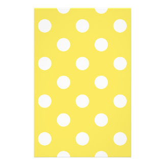 Yellow Polka Dots Pattern Flyer