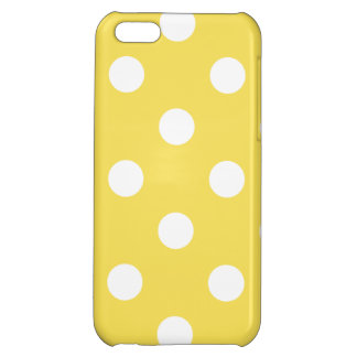 Yellow Polka Dots Pattern iPhone 5C Covers