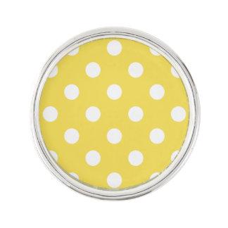 Yellow Polka Dots Pattern Lapel Pin