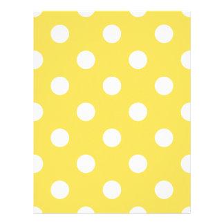Yellow Polka Dots Pattern Letterhead