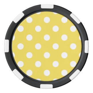 Yellow Polka Dots Pattern Poker Chips