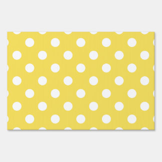 Yellow Polka Dots Pattern Sign