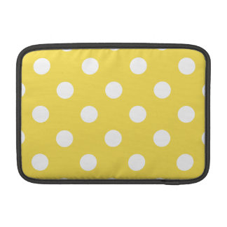 Yellow Polka Dots Pattern Sleeve For MacBook Air