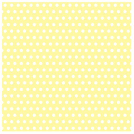 Yellow polka dots pattern. Spotty. Cut Out