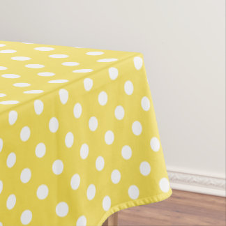 Yellow Polka Dots Pattern Tablecloth
