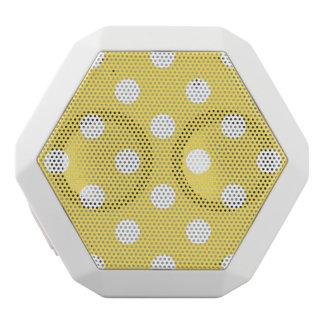 Yellow Polka Dots Pattern White Bluetooth Speaker