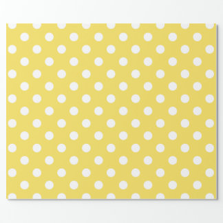 Yellow Polka Dots Pattern Wrapping Paper