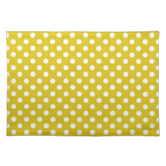 Yellow Polka Dots Placemat