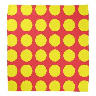 Yellow Polka Dots Red Head Kerchiefs