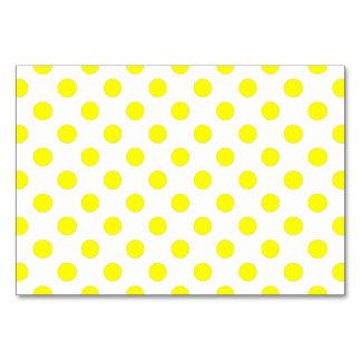 Yellow Polka Dots Table Cards