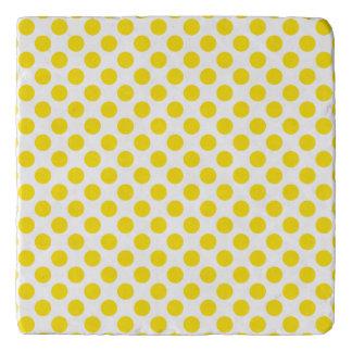 Yellow Polka Dots Trivet