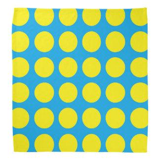 Yellow Polka Dots Turquoise Bandannas