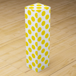 Yellow Polka Dots Wine Gift Box