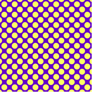 Yellow Polka Dots With Purple Background Standing Photo Sculpture
