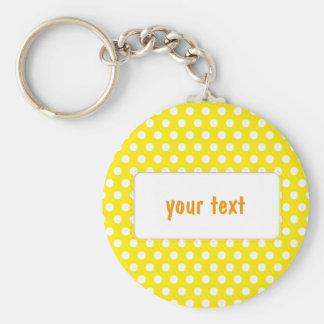 Yellow Polkadot Keychain