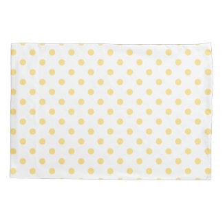 Yellow Polkadots Pattern Pair of Pillowcases