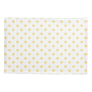 Yellow Polkadots Pattern Pair of Pillowcases Pillowcase