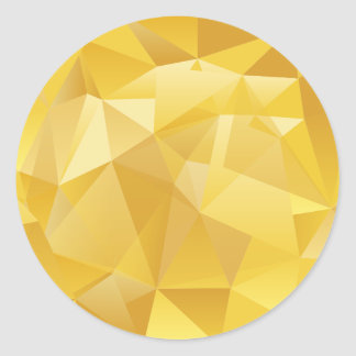 Yellow Polygon Classic Round Sticker