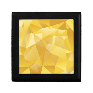 Yellow Polygon Gift Box