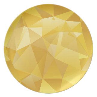 Yellow Polygon Plate
