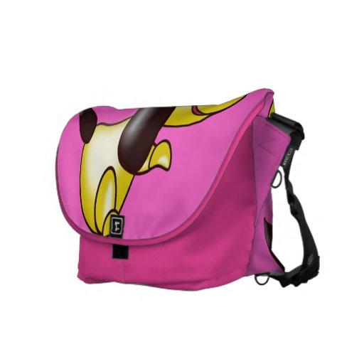 yellow pooch messenger bag