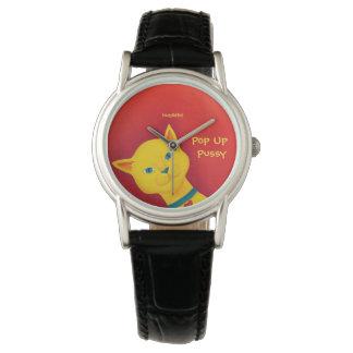 Yellow Pop Up Pussy Wristwatch
