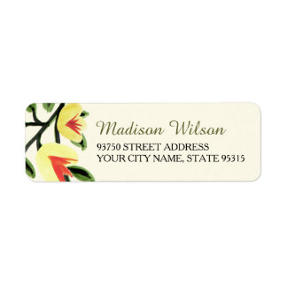 Yellow Poppies Address Labels
