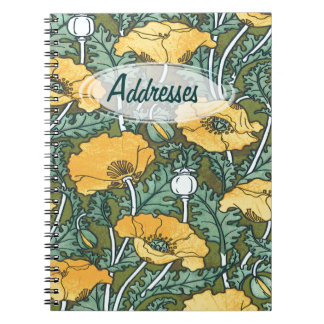 Yellow Poppy ~ Address Book