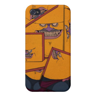 Yellow Portrait iPhone 4 Cover