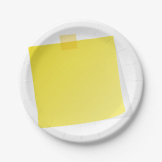 Yellow Post It Note Paper Plates 7 Inch Paper Plate