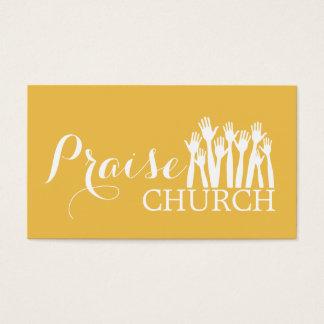 Yellow Praise Church Religion Christian Pastor Business Card