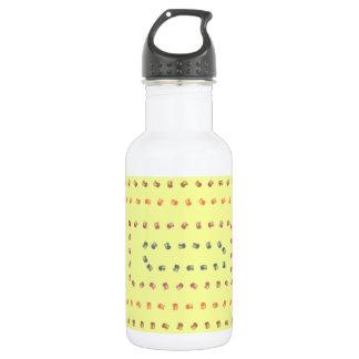 Yellow print design 532 ml water bottle