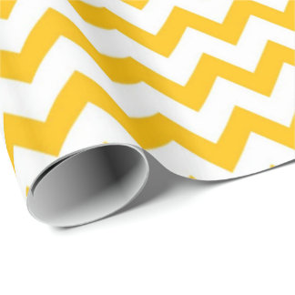 Yellow Print Wrapping Paper