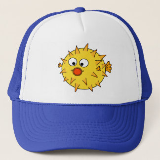 Yellow Puffer Fish Trucker Hat