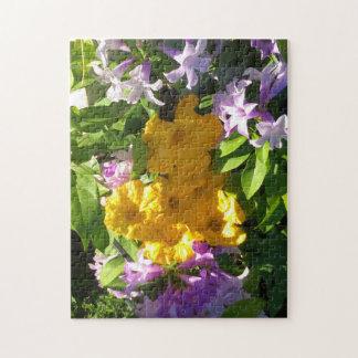 YELLOW PUMKIN FLOWERS JIGSAW PUZZLE