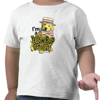 Yellow Pup Democrat Shirt
