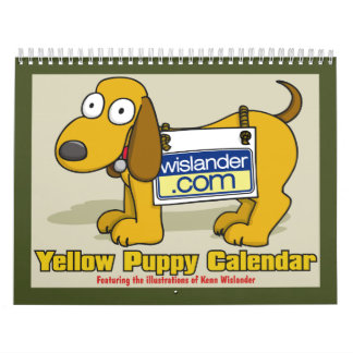 Yellow Puppy Calender 2012 Wall Calendar