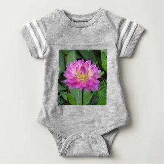 Yellow Purple Dahlia Baby Bodysuit