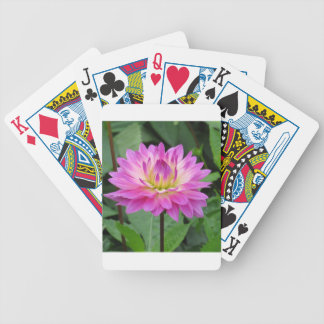 Yellow Purple Dahlia Bicycle Playing Cards