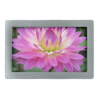 Yellow Purple Dahlia Rectangular Belt Buckle