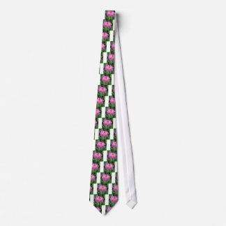 Yellow Purple Dahlia Tie