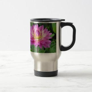 Yellow Purple Dahlia Travel Mug
