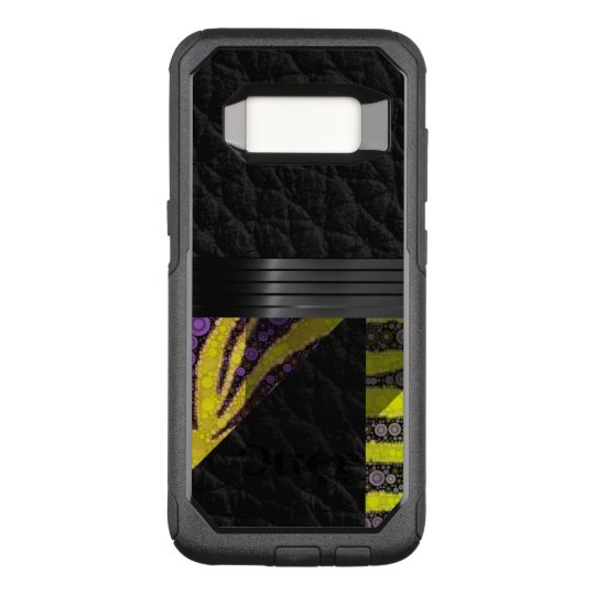 Yellow Purple Fancy Pattern OtterBox Commuter Samsung Galaxy S8 Case